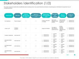 Stakeholders Identification Title Project Engagement Management Process Ppt Structure