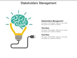 Stakeholders Management Ppt Powerpoint Presentation Gallery Background Images Cpb