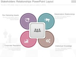 Stakeholders Relationships Powerpoint Layout