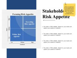 Stakeholders Risk Appetite Powerpoint Slide Designs