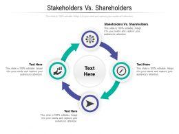Stakeholders Vs Shareholders Ppt Powerpoint Presentation Model Example Topics Cpb