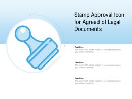 Stamp Approval Icon For Agreed Of Legal Documents