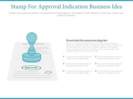 Stamp For Approval Indication Business Idea Flat Powerpoint Design
