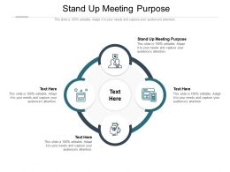 Stand Up Meeting Purpose Ppt Powerpoint Presentation Show Professional Cpb