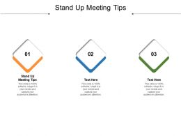 Stand Up Meeting Tips Ppt Powerpoint Presentation Infographic Template Guidelines Cpb