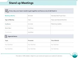 Stand Up Meetings Ppt Slides Designs Download