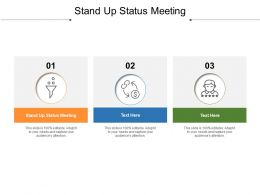Stand Up Status Meeting Ppt Powerpoint Presentation Infographics Samples Cpb