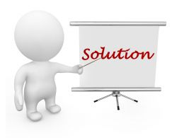 Stand With Solution Text Stock Photo