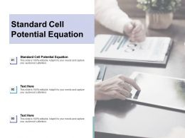 Standard Cell Potential Equation Ppt Powerpoint Presentation Icon Structure Cpb