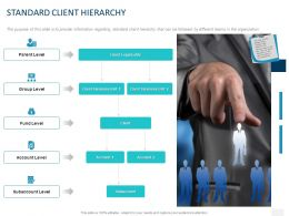 Standard Client Hierarchy Ppt Powerpoint Presentation Gallery Structure