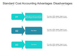 Standard Cost Accounting Advantages Disadvantages Ppt Powerpoint Presentation Outline Cpb