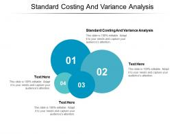 Standard Costing And Variance Analysis Ppt Powerpoint Presentation Portfolio Diagrams Cpb