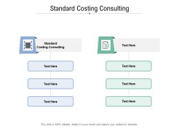 Standard Costing Consulting Ppt Powerpoint Infographic Template Model Cpb