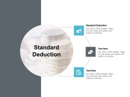Standard Deduction Ppt Powerpoint Presentation Icon Infographics Cpb