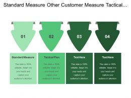 Standard Measure Other Customer Measure Tactical Plan Strategy Objective