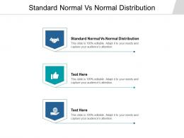 Standard Normal Vs Normal Distribution Ppt Powerpoint Presentation File Icon Cpb