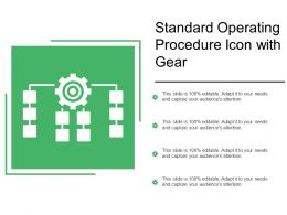Standard Operating Procedure Icon With Gear