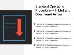 Standard Operating Procedure With List And Downward Arrow