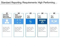 Standard Reporting Requirements High Performing Workforce Talent Gap