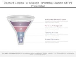 Standard Solution For Strategic Partnership Example Of Ppt Presentation