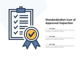 Standardization Icon Of Approved Inspection