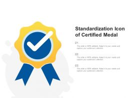 Standardization Icon Of Certified Medal