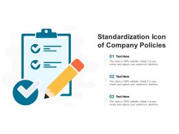 Standardization Icon Of Company Policies