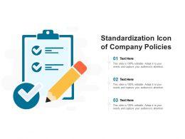 Standardization Icon Of Company Policies