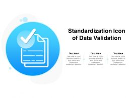 Standardization Icon Of Data Validation
