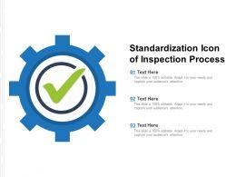 Standardization Icon Of Inspection Process