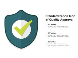 Standardization Icon Of Quality Approval