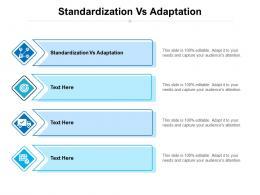 Standardization Vs Adaptation Ppt Powerpoint Presentation Portfolio Introduction Cpb