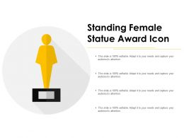 Standing Female Statue Award Icon
