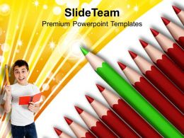 Standout From Crowd Education Concept Powerpoint Templates Ppt Themes And Graphics 0113