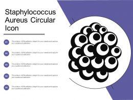 Staphylococcus Aureus Circular Icon