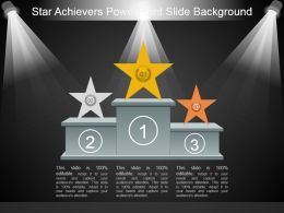 Star Achievers Powerpoint Slide Background