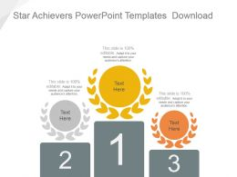 Star Achievers Powerpoint Templates Download