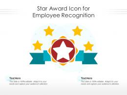 Star Award Icon For Employee Recognition