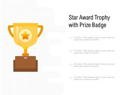 Star Award Trophy With Prize Badge