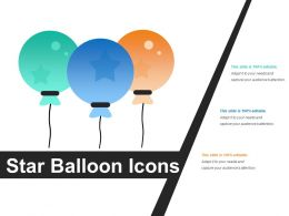 Star Balloon Icons