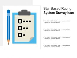 Star Based Rating System Survey Icon