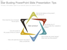 Star Busting Powerpoint Slide Presentation Tips