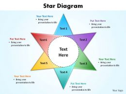 star diagram slides presentation diagrams templates powerpoint info graphics
