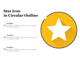 Star Icon In Circular Outline