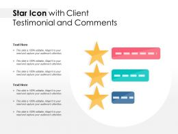 Star Icon With Client Testimonial And Comments