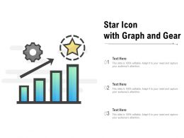 Star Icon With Graph And Gear