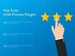 Star Icon With Person Finger