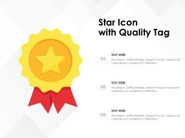 Star Icon With Quality Tag
