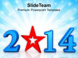 Star New Year 2014 PowerPoint Templates PPT Backgrounds For Slides 1113