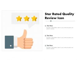 Star Rated Quality Review Icon